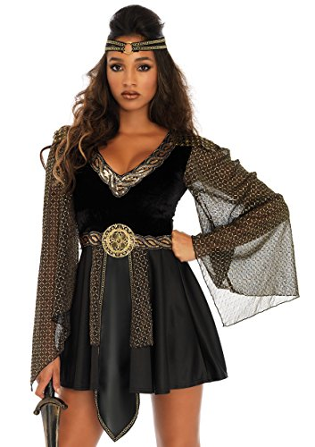 (Leg Avenue Women's Sexy Glamazon Warrior Costume, Black)