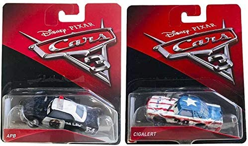Cars 3 Cigalert & APB Disney Pixar Cars 3 Pack 2: Amazon.es: Juguetes y juegos