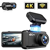 JOMISE Dual Dash Cam 4K&1080P Built in WiFi GPS Car Dashboard Camera Recorder with UHD 3840x2160P, 2.45