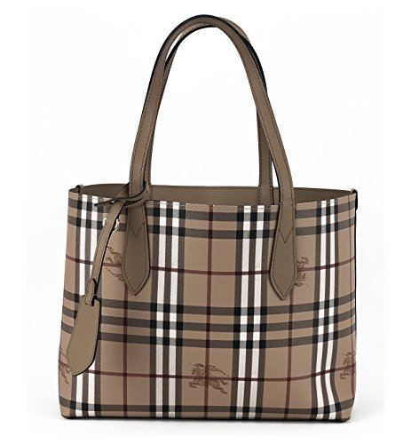 Burberry Women's Small Reversible Handbag in Haymarket Check and 1 Camel Burberry Purse