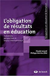 L'obligation de résultats en éducation : Evolutions, perspectives et enjeux internationaux