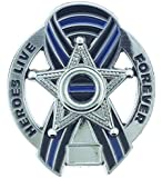 Heroes Live Forever Memorial 5 Point Star Pin