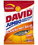Cheap DAVID Roasted and Salted Jalapeño Hot Salsa Jumbo Sunflower Seeds, 5.25 oz, 12 Pack