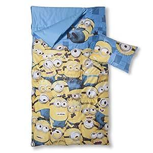Despicable Me Minions 2 Piece Sleepover Set Sleeping Bag Pillow