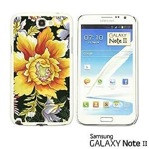 OnlineBestDigital? - Flower Pattern Hardback Case for Samsung Galaxy Note 2 - Large Yellow Flower Kimberly Kurzendoerfer