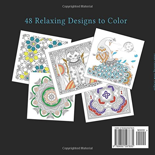 Amazon Com Adult Coloring Book Designs Stress Relief Coloring Book Garden Designs Mandalas Animals And Paisley Patterns 9780692597835 Books