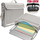 "Trikton Fireproof Document Bag, XL Silver, with TSA-Lock, Visible in The Dark, Stores Bulky Binders Without Fold Them, X-Large (15""x12""x3"") Fire and Water-Resistant Safe Briefcase 