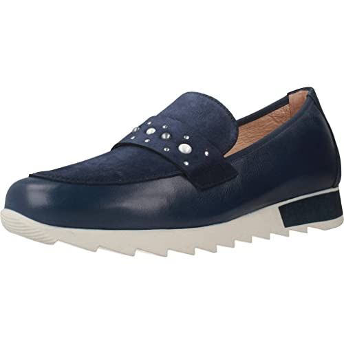 Mocasines para Mujer, Color Azul, Marca HISPANITAS, Modelo Mocasines para Mujer HISPANITAS Soho-V8 Azul: Amazon.es: Zapatos y complementos
