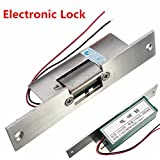 BephaMart Door Electric Strike Lock NO Narrow-type Electronic Control 12V DC Shipped and Sold by BephaMart