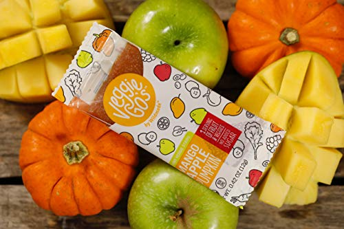 Veggie-Go's Organic Fruit and Veggie Strip, Mango/Apple/Pumpkin, 20 Count