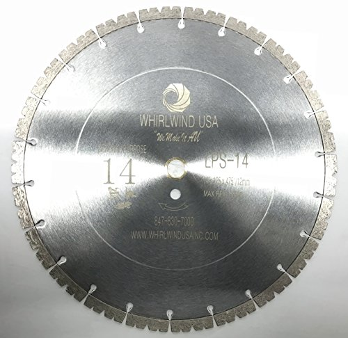 Whirlwind USA LPS 14 inch Dry or Wet Cutting General Purpose Power Saw Segmented Diamond Blades for Masonry Brick/Block Pavers Concrete Stone (Factory Direct Sale) (LPS14)
