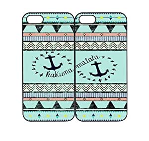 meilinF000Hakuna Matata Tribal Anchor Design Best Friends Snap On Case Set iphone 6 4.7 inch Cases +NFL Micro LED Keychain LightmeilinF000