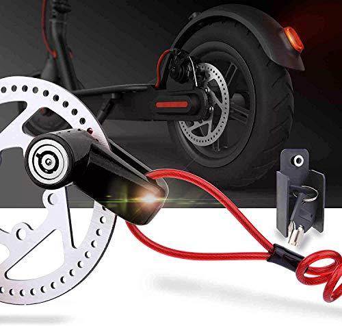 Blocco freno a disco per scooter elettrico antifurto in acciaio con serratura a disco per ruota freno a disco per Xiaomi M365/PRO Scooter elettrico accessori ruote armadietto con corda promemoria 6 spesavip