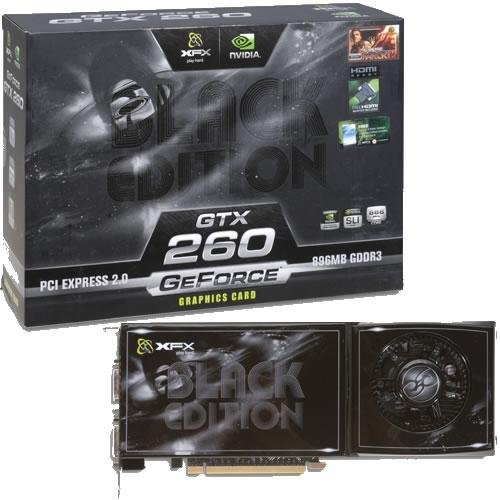 XFX TECHNOLOGIES GX 260N ADBF XFX GeForce GTX 260 Black Edition 896MB GDDR3 Dual DVI/TV Out PCI-E