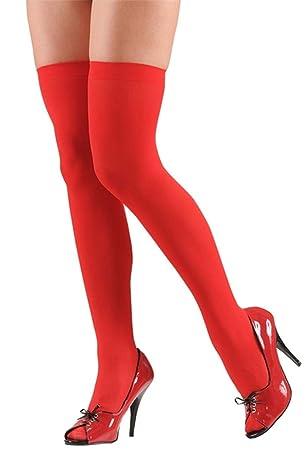 f65319948bc3a Femmes sur le genou Chaussette Rouge Filles cuisse haute Chaussettes de  Noël Fancy Dress