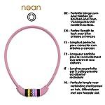 Nean-cavo-spiralato-con-lucchetto-per-la-bicicletta-dei-bambini-serratura-a-combinazione-numerica-colorato-10-x-650-mm