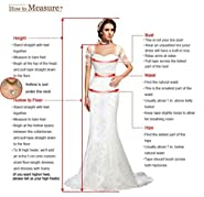 RohmBridal Women's Sparkling Embellished Bridesmaid Prom Dresses