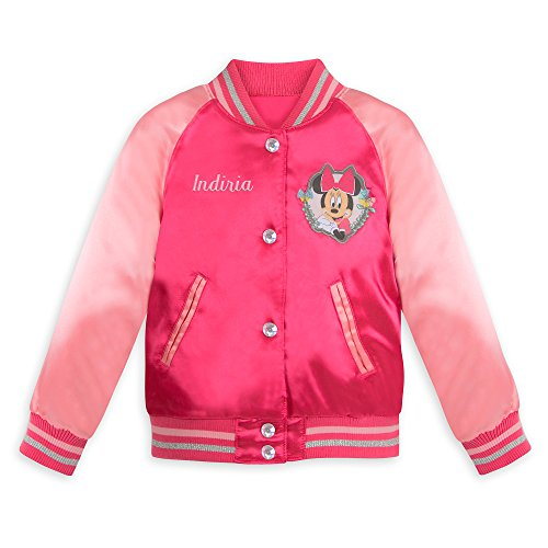 Disney Minnie Mouse Varsity Jacket for Girls - Size 4 Pink -