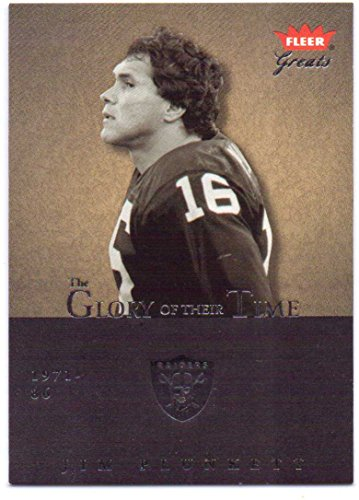 (Jim Plunkett 2004 Fleer Greats of the Game Glory of Their Time #23-GOT - 0872/1985 - Oakland Raiders)
