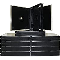 mediaxpo 10cd4black 10 Quad 4 Disc CD Jewel Case, Black