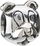 Authentic Chamilia RETIRED Sterling Silver Puppy Dog Bead * GB-8