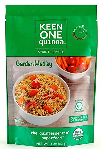 Price comparison product image Keen One Instant Organic Quinoa Dinner Mix - 100% Premium,  Cooks in 8 Minutes! (Garden Medley Flavor,  Case of 10)