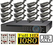 USG 1080p HD-SDI 16 Channel Kit: 1x 16 Ch DVR + 16x 2.8-12mm Bullet Cameras + 2x 2TB HDD *** High Definition CCTV Video Surveillance