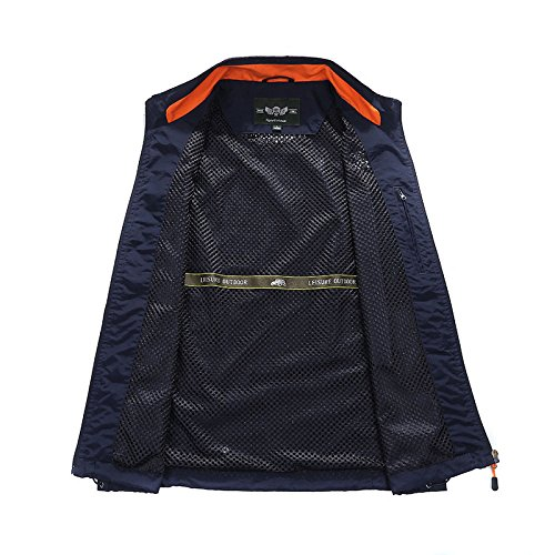 Uomo Uomo GEDTFC Multi Jacket Blue Alpinismo Outdoor Pocket Pesca Gilet Travel Da Photography Da InFaI8rv