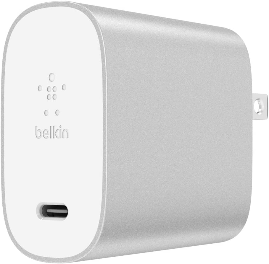 Belkin 27W USB-C Wall Charger (USB-PD Iphone USB-C Charger for Iphone 11, Pro, Max, XS, Max, XR, X, 8, Plus and More) USB-C Fast Charger for Iphone, Wall Charger