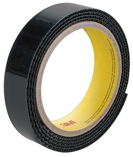 3M Scotchmate SJ3418FR Black Hook & Loop Tape - Loop - 1 in Width - Flame Retardant - 62676 [PRICE is per ROLL]