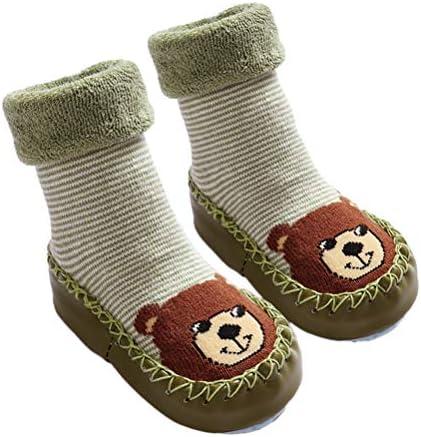 TENDYCOCO Anti Slip Learning Walking Socks Cotton Infant Socks for 15-23 Months Baby 1Pair