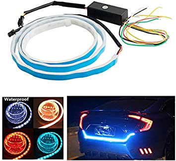 12V Car Flow Type LED Strip Tailgate Turning Signal Lights Bar Trunk Strips Lamp
