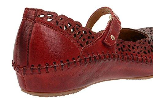 Pikolinos P. Vallarta 655_v17 Signore Chiuso Ballerine Rosso Medio