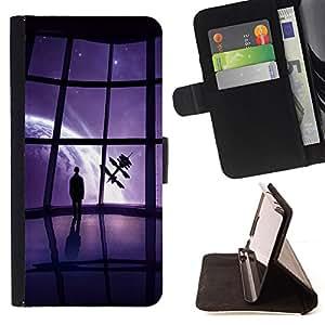 BullDog Case - FOR/Sony Xperia Z1 L39 / - / Mass Game View /- Monedero de cuero de la PU Llevar cubierta de la caja con el ID Credit Card Slots Flip funda de cuer