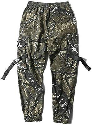 FANGLING-Trousers Pantalones para Hombre Cintas Streetwear ...