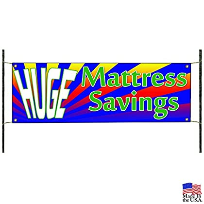 Image of Home and Kitchen Mattress Huge Saving Offer Home Business Advertising Vinyl Banner Sign
