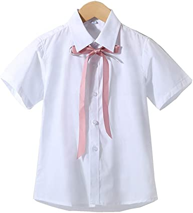 Ruth Wang Niñas Bowknot Encaje Camisa Blanca de Verano de ...