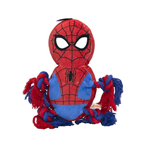 Marvel Comics Spiderman Rope Knot Buddy for Dogs | Super Hero Toys for All Dogs and -