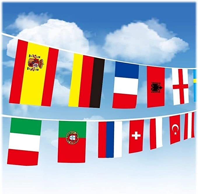 Fahne Flagge Flaggenkette Kroatien 6 Meter Lang