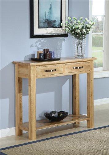 Exeter Beistelltisch Set Aus Massivem Eichenholz, Für Wohnzimmer, Flur  Konsolentisch Mit 2 Schubladen Günstig Kaufen