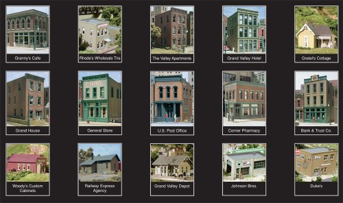 HO KIT City and Industry Building Set