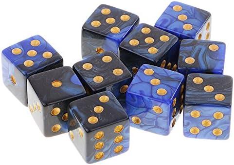 Gazechimp 10PCS Seis Caras D6 Dados de Plástico Juegos de Mesa ...