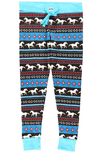jama Sets for Women l Fun Animal Leggings Size XS - XL (X-Large, Horse Fair Isle Legging) (Horses Womens Pajama Pants)