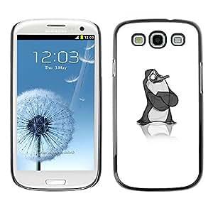 For SAMSUNG Galaxy S3 III / i9300 / i747,S-type® Penguin Sketch Art Children'S - Arte & diseño plástico duro Fundas Cover Cubre Hard Case Cover