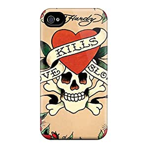 TimeaJoyce Iphone 4/4s Durable Hard Cell-phone Cases Provide Private Custom Nice Ed Hardy Image [zQH4500cceP]
