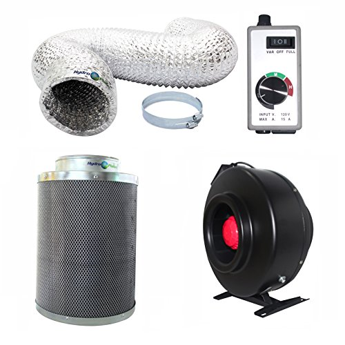 Hydroplanet 8 Inch Inline Fan Carbon Air Filter And 25