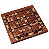 WE Games Wooden Sudoku Board with Storage Slots in Medium Stain - 11.5 in.