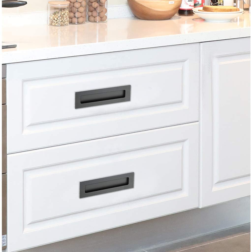 Oval-Silver Tone OwnMy 2 Pack Oval Flush Pulls Brushed Oval Flush Recessed Sliding Door Pull Handles Recessed Finger Pulls for Sliding Doors Cabinets Drawers