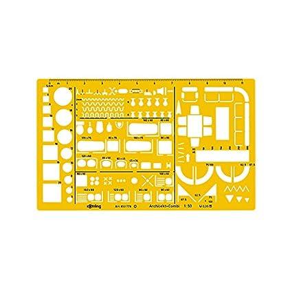 Rotring - Plantillas combinadas para arquitectos (1:50)
