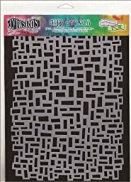 Ranger Dyan Reaveley\'s Dylusions Stencils, 9 by 12-Inch, Blocks